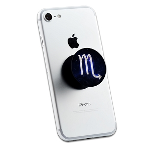 Scorpio Galaxy Zodiac Symbol 2 Sticker Set for Pop Grip Stent for Phones and Tablets (Stickers Only)