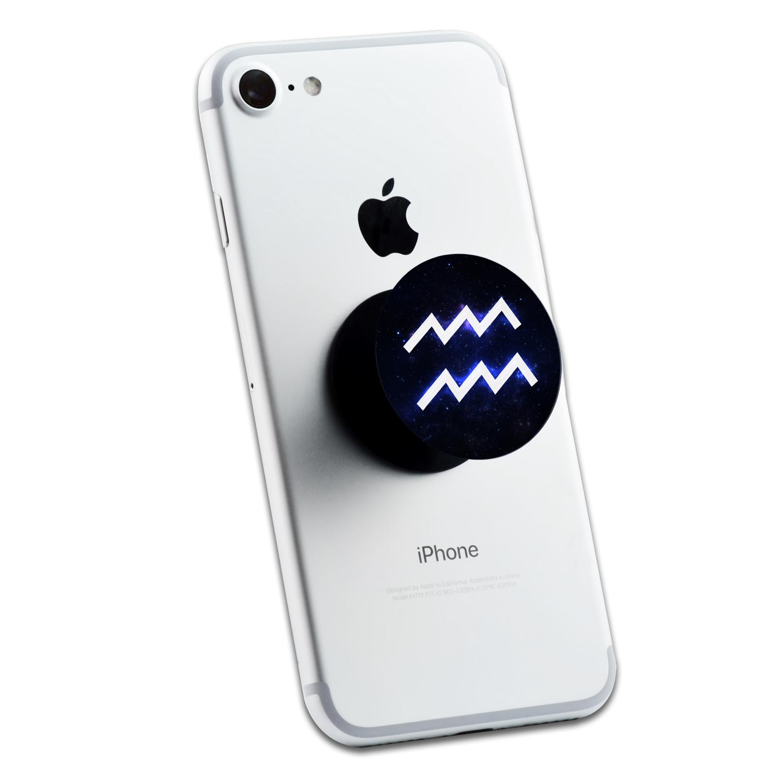 Aquarius Galaxy Zodiac Symbol 2 Sticker Set For Pop Grip Stent For