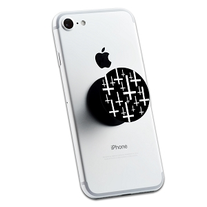 Upside Down Crosses Symbol 2 Sticker Set for Pop Grip Stent for Phones and Tablets (Stickers Only)