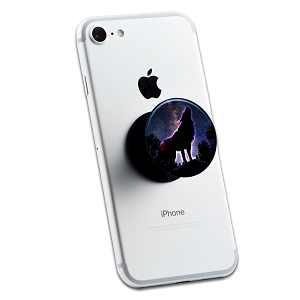 Howling Wolf Night Sky 2 Sticker Set for Pop Grip Stent for Phones and Tablets (Stickers Only)
