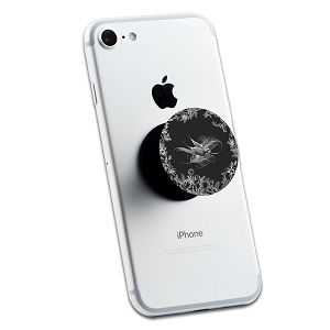 Floral Bird Design 2 Sticker Set for Pop Grip Stent for Phones and Tablets (Stickers Only)