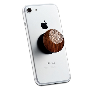 Wood White Mandala 2 Sticker Set for Pop Grip Stent for Phones and Tablets (Stickers Only)