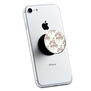 White Floral Pattern 2 Sticker Set for Pop Grip Stent for Phones and Tablets (Stickers Only)