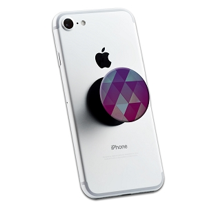 Pink Purple Geometric 2 Sticker Set for Pop Grip Stent for Phones and Tablets (Stickers Only)