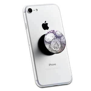 Grey Purple Faded Roses 2 Sticker Set for Pop Grip Stent for Phones and Tablets (Stickers Only)