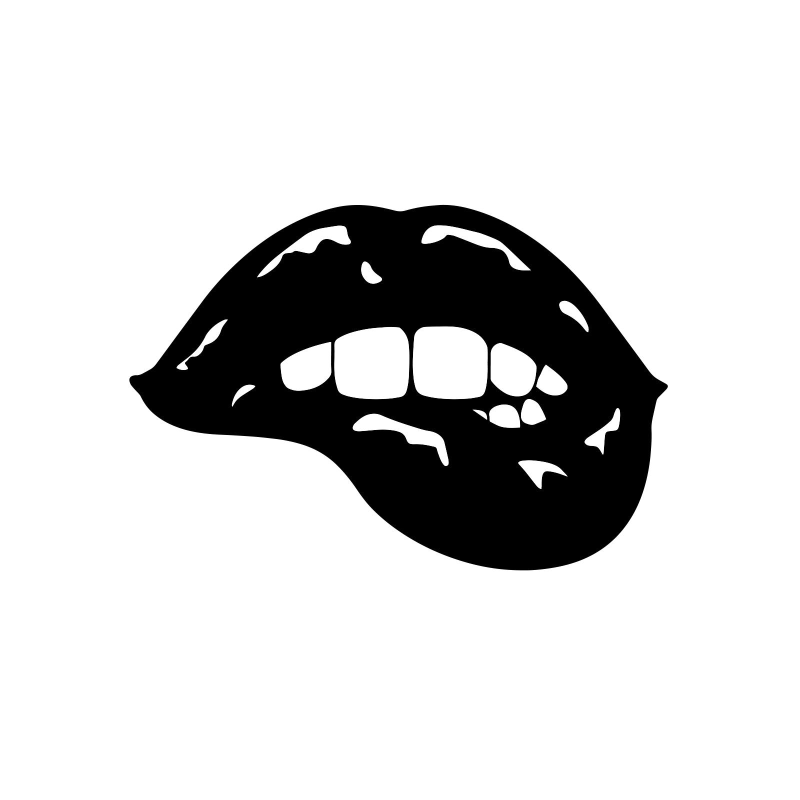 Biting Lip Snowboard Sticker All Weather Vinyl Decal