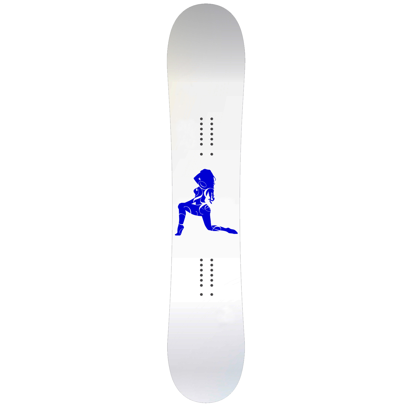Sexy Swirls Girl Snowboard Sticker All Weather Vinyl Decal