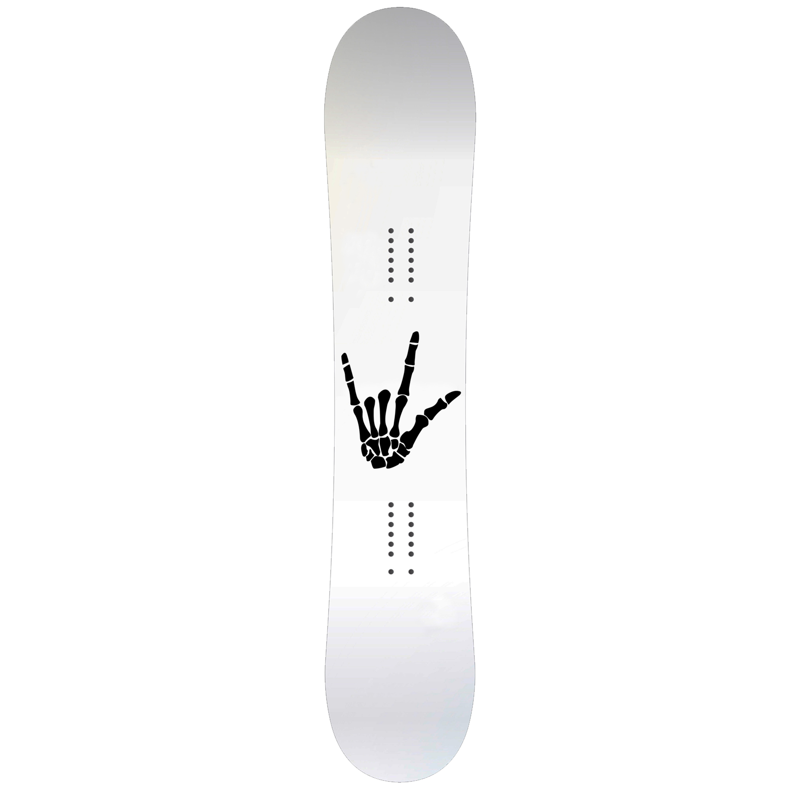 Skeleton Hand Rock On Snowboard Sticker All Weather Vinyl Decal