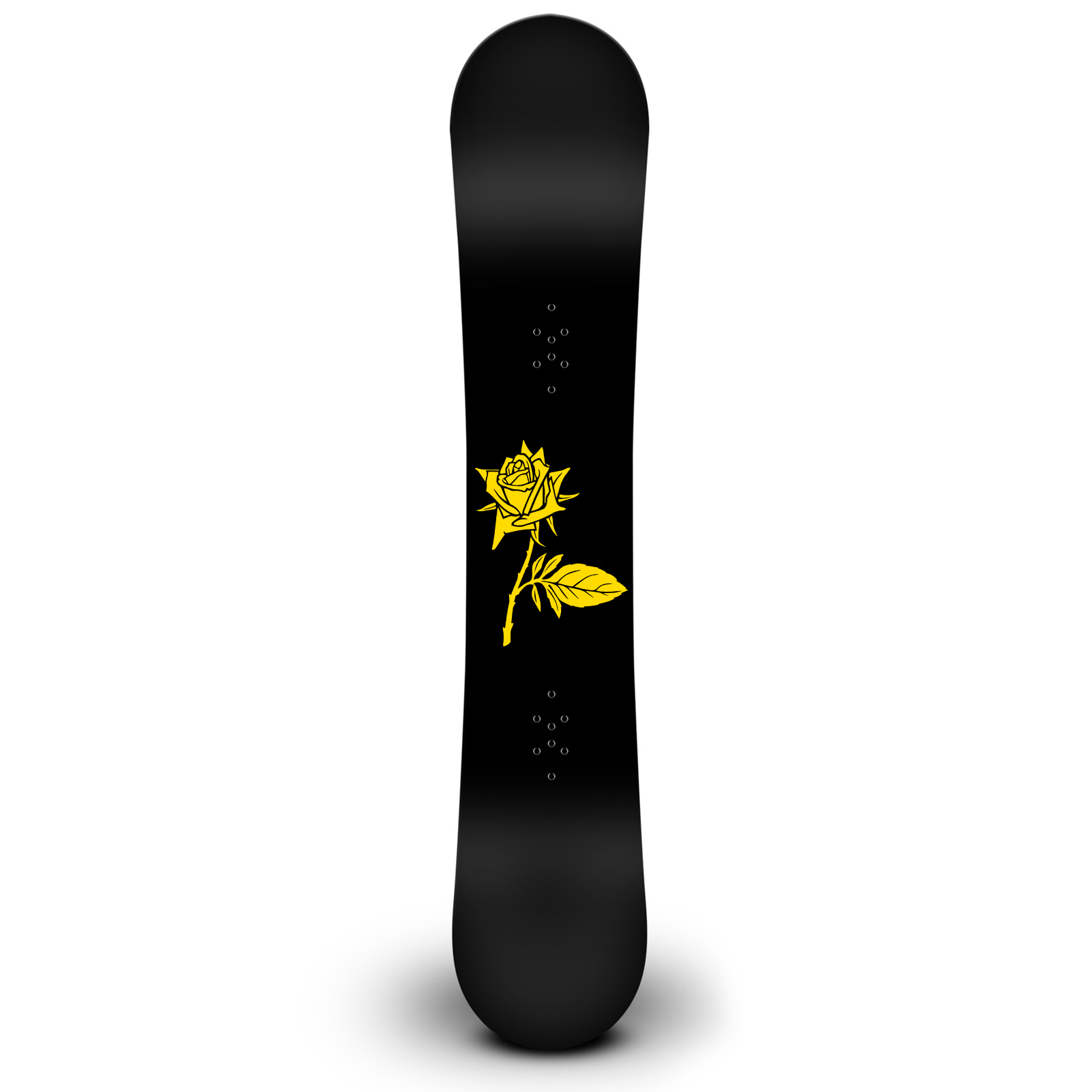 Rose Plant Silhouette Snowboard Sticker All Weather Vinyl Decal