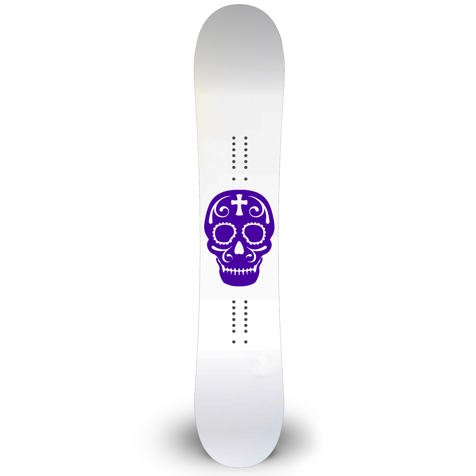 Sugar Skull Outline Snowboard Sticker All Weather Vinyl Decal