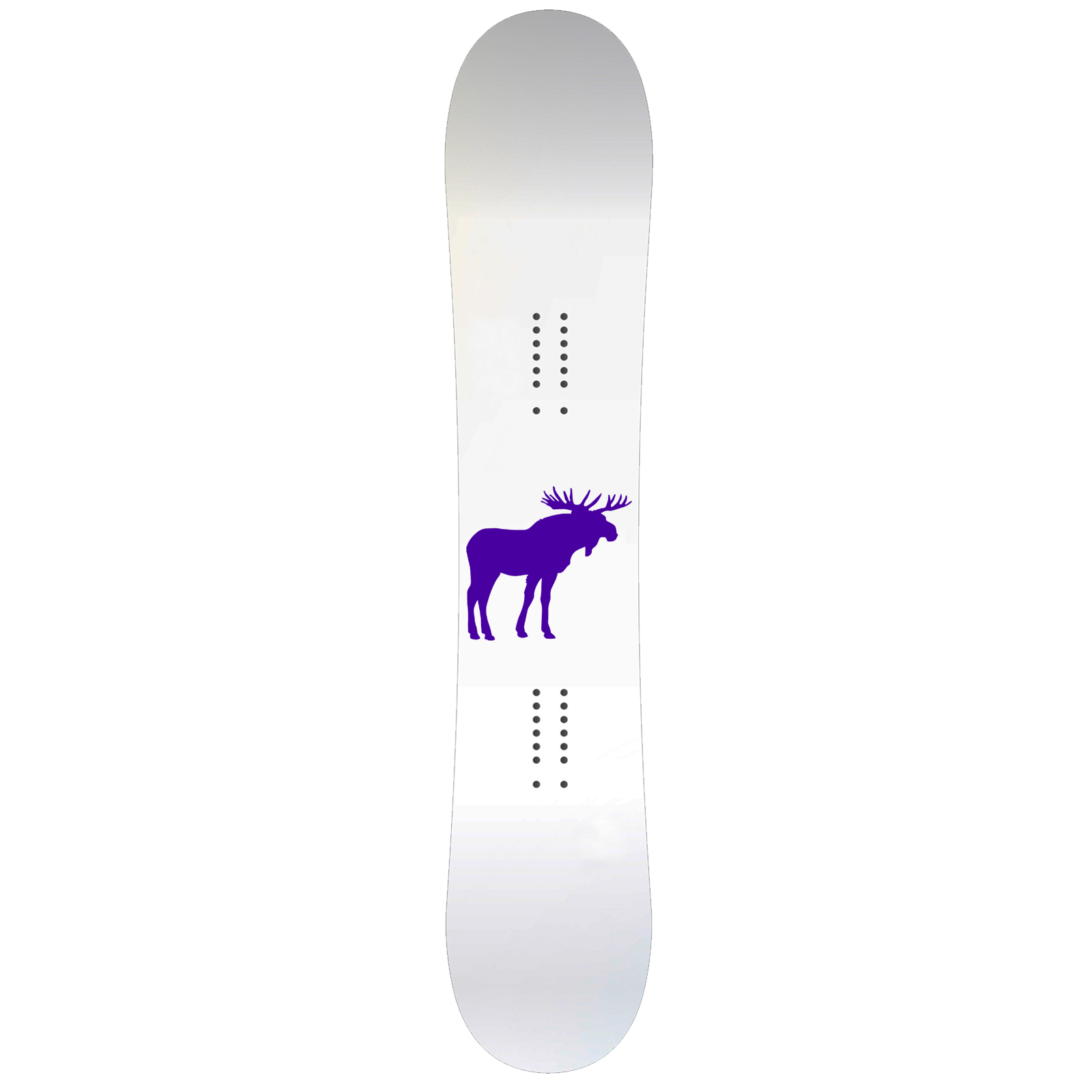 Moose Body Silhouette Snowboard Sticker All Weather Vinyl Decal