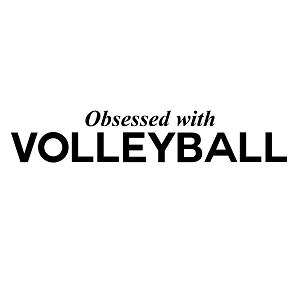 Obsessed with Volleyball Sports Vinyl Decal