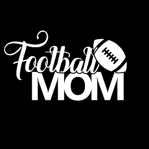 Football Mom Sports Vinyl Decal