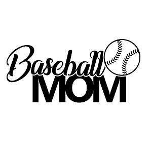 Baseball Mom Sports Vinyl Decal