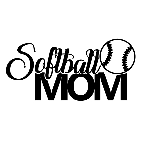 Softball Mom Sports Vinyl Decal