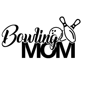 Bowling Mom Sports Vinyl Decal