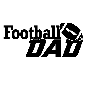 Football Dad Sports Vinyl Decal