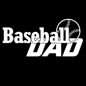 Baseball Dad Sports Vinyl Decal