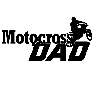 Motocross Dad Sports Vinyl Decal