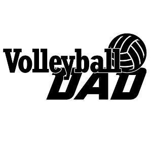 Volleyball Dad Sports Vinyl Decal