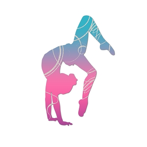 Pink Blue Spiral Gymnast Color Vinyl Sports Car Laptop Sticker - 6