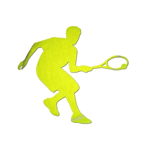 Tennis Player Silhouette Color Vinyl Sports Car Laptop Sticker - 6