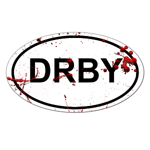 Roller Derby DRBY Oval Color Vinyl Sports Car Laptop Sticker - 6