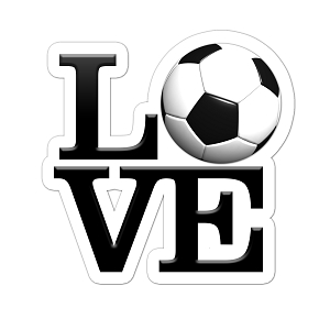 LOVE Soccer Color Vinyl Sports Car Laptop Sticker - 6