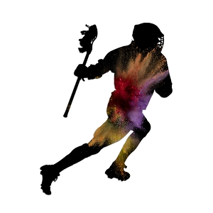 Lacrosse Player Paint Silhouette Color Vinyl Sports Car Laptop Sticker - 6