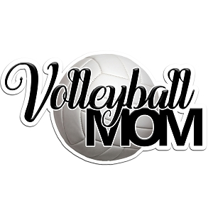 Volleyball Mom Color Vinyl Sports Car Laptop Sticker - 6