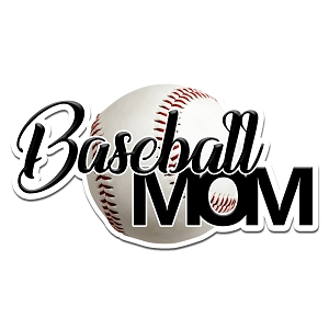 Baseball Mom Color Vinyl Sports Car Laptop Sticker - 6