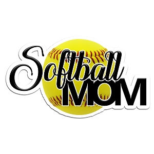 Softball Mom Color Vinyl Sports Car Laptop Sticker - 6