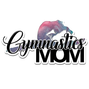 Gymnastics Mom Pink Color Vinyl Sports Car Laptop Sticker - 6