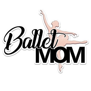 Ballet Dancer Mom Color Vinyl Sports Car Laptop Sticker - 6