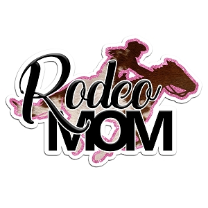 Rodeo Mom Glitter Color Vinyl Sports Car Laptop Sticker - 6