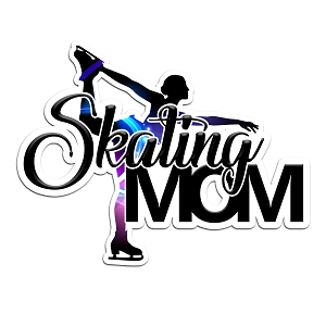 Skating Mom Blue Purple Color Vinyl Sports Car Laptop Sticker - 6