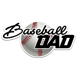 Baseball Dad Color Vinyl Sports Car Laptop Sticker - 6