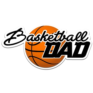 Basketball Dad Color Vinyl Sports Car Laptop Sticker - 6