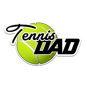 Tennis Dad Color Vinyl Sports Car Laptop Sticker - 6