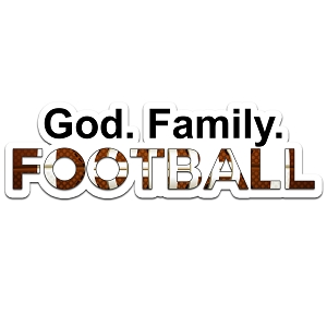 God Family Football Color Vinyl Sports Car Laptop Sticker - 6
