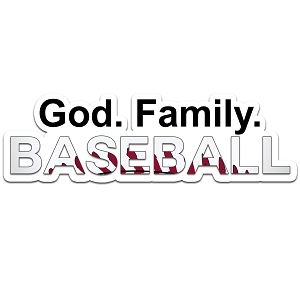 God Family Baseball Color Vinyl Sports Car Laptop Sticker - 6