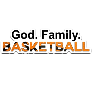 God Family Basketball Color Vinyl Sports Car Laptop Sticker - 6