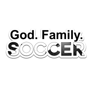 God Family Soccer Color Vinyl Sports Car Laptop Sticker - 6