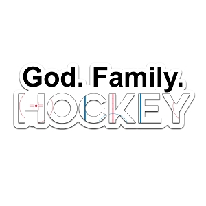 God Family Hockey Color Vinyl Sports Car Laptop Sticker - 6