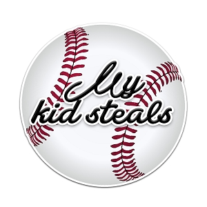 My Kid Steals Baseball Color Vinyl Sports Car Laptop Sticker - 6