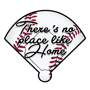 Baseball There's No Place Like Home Color Vinyl Sports Car Laptop Sticker - 6