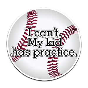 I Can't My Kid Has Practice Baseball Color Vinyl Sports Car Laptop Sticker - 6
