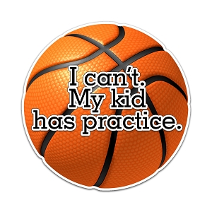I Can't My Kid Has Practice Basketball Color Vinyl Sports Car Laptop Sticker - 6