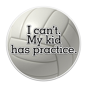 I Can't My Kid Has Practice Volleyball Color Vinyl Sports Car Laptop Sticker - 6
