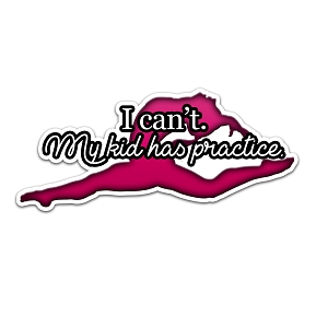 I Can't My Kid Has Practice Gymnastics Pink Color Vinyl Sports Car Laptop Sticker - 6